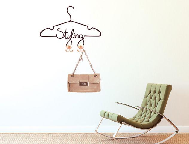 clothing hanger | wall sticker | מדבקות קיר וטפטים | takiart טקי ארט