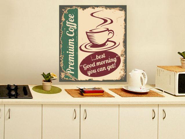 כוס קפה בסגנון רטרו