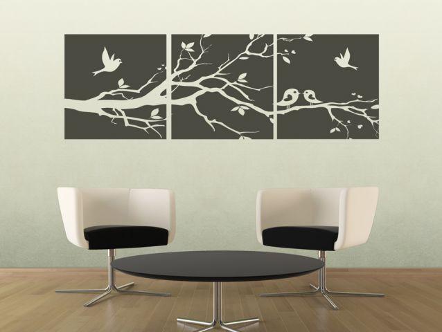 מדבקת קיר לסלון - ציפורים