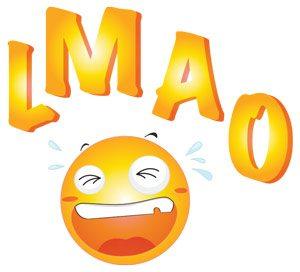 LMAO emoji | Wall sticker | מדבקות קיר וטפטים | TakiArt טקי ארט