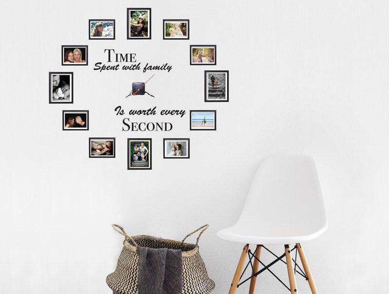 מדבקת קיר לסלון | מדבקת קיר | זמן המשפחה