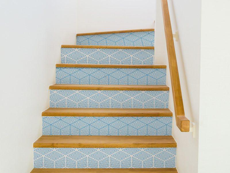 טפט למדרגות | מדבקות למדרגות | גיאומטרי