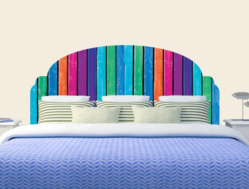 מדבקת קיר | מדבקת ראש מיטה בעיצוב של עצים צבעיניים