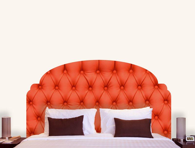 מדבקת קיר | מדבקת ראש מיטה בעיצוב של ריפוד אדום