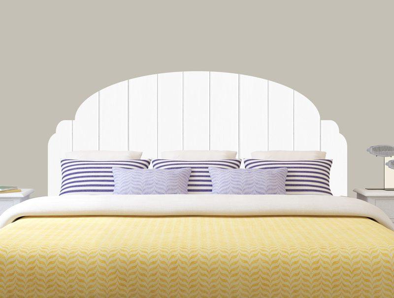 מדבקת קיר | מדבקת ראש מיטה בעיצוב של פנלים לבנים