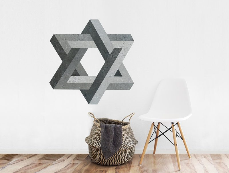 מדבקת קיר | צורה בלתי אפשרית של מגן דוד